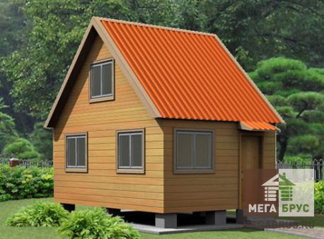 Проект дома из бруса ПД-1