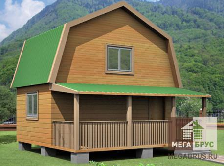 Проект дома из бруса ПД-5