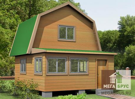 Проект дома из бруса ПД-6