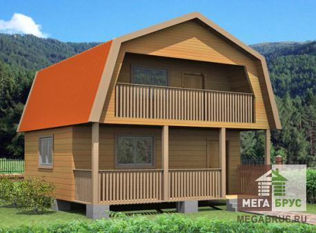 Проект дома из бруса ПД-8