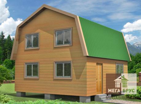 Проект дома из бруса ПД-10