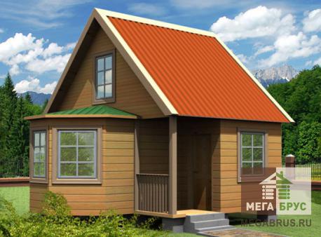 Проект дома из бруса ПД-13