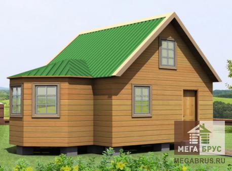 Проект дома из бруса ПД-14