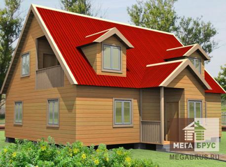 Проект дома из бруса ПД-21