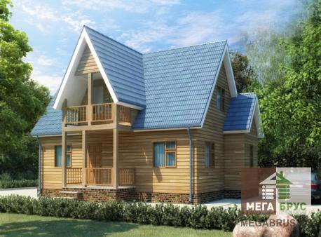 Брусовой дом 6x9м ДБ-18