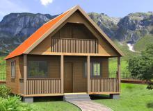 Проект дома из бруса ПД-7