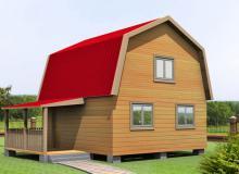Проект дома из бруса ПД-12