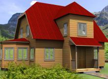 Проект дома из бруса ПД-22
