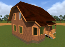 Проект дома из бруса БК-3