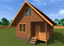 Проект дома из бруса БК-4