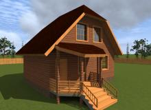 Проект дома из бруса БК-10