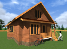 Проект дома из бруса БК-19