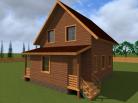 Дом из бруса 9x7