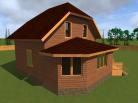 Дом из бруса 9x8