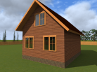 Проект дома из бруса 6x8
