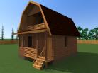 Дом из бруса 6x7