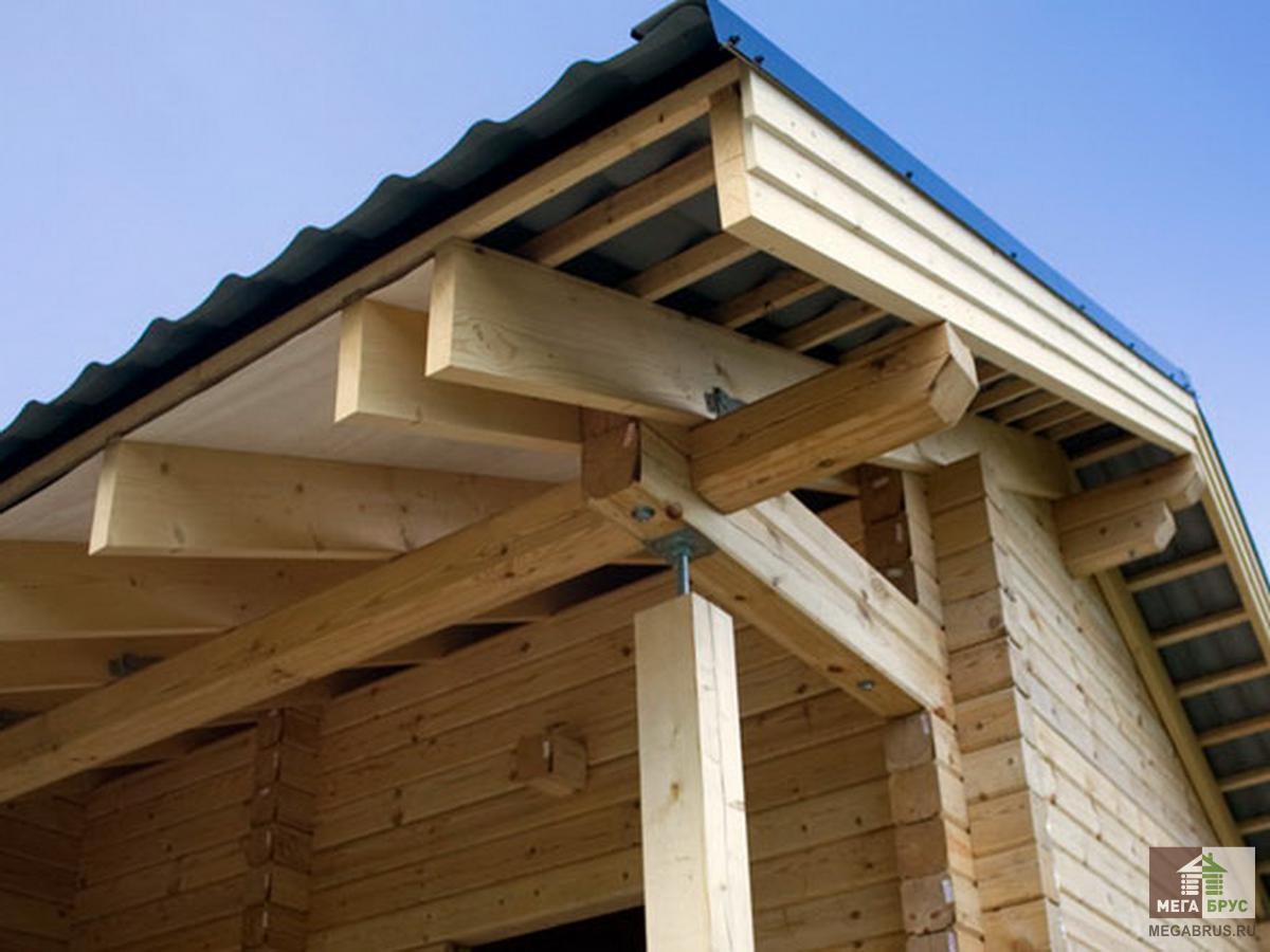 Крыша дома из профилированного бруса