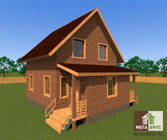 Дом из бруса 7x9м.