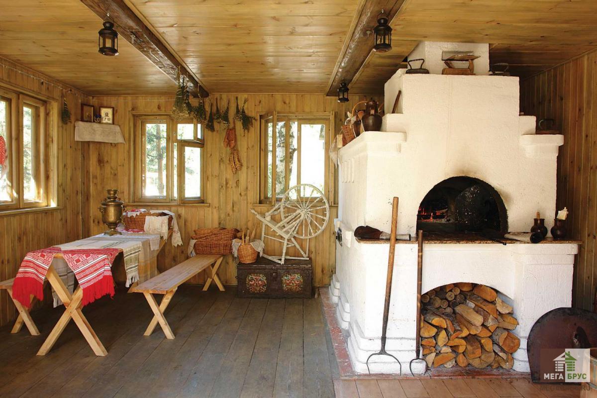 Русский стиль деревянного дачного дома