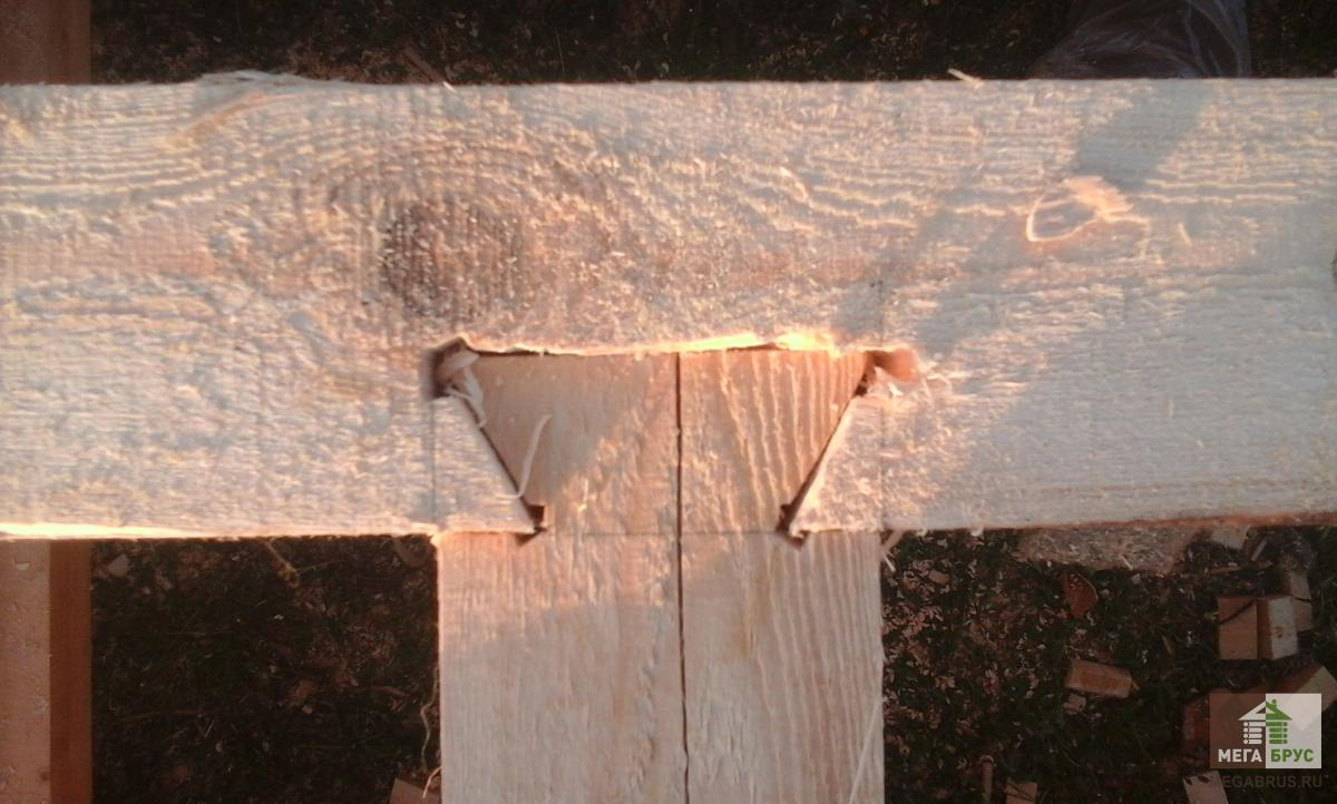 Рубка сруба из бруса ласточкин хвост